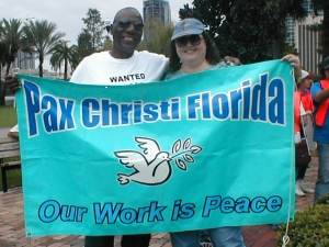 Pax Christi USA members at a march