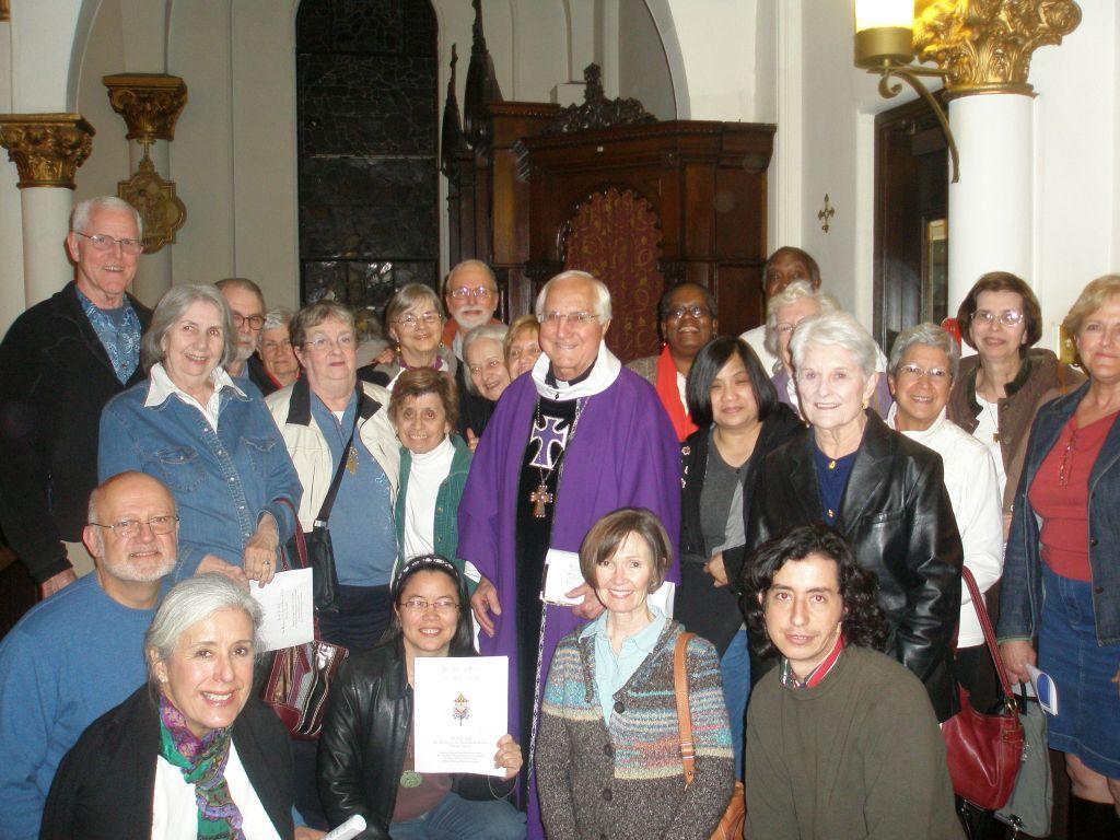Bishop Gumbleton in Atlanta with Pax Christi/JustFaith participants