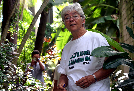 A file photo of Missionary sister Dorothy Stang in Brazil's Amazon