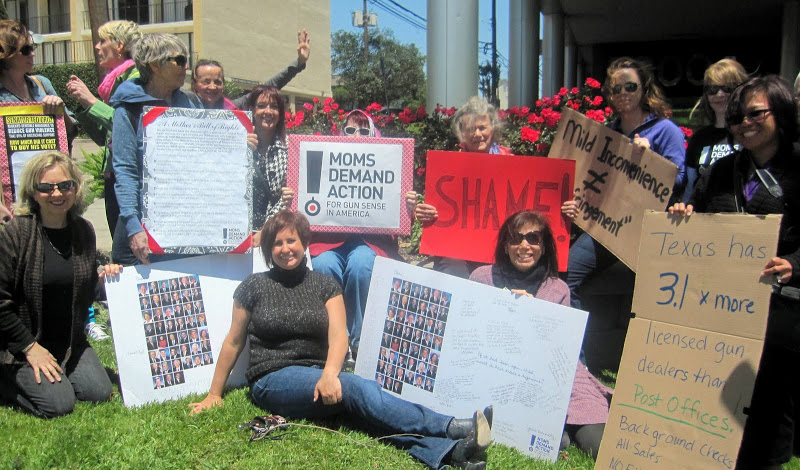 Pax Christi Houston members join Mothers Demand Action for gun safety.