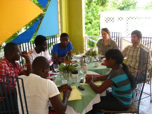 PCUSA and Pax Christi Port-au-Prince members collaborate on peace education training in Haiti.