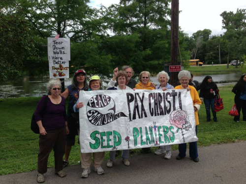 Members of Pax Christi Seed Planters in Chicago