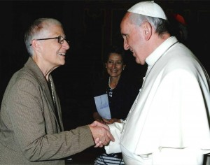 Pax Christi International Co-President meets with Pope Francis in October at the Vatican.