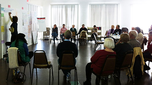 Pax Christi Memphis participates in a day of discernment for their group.