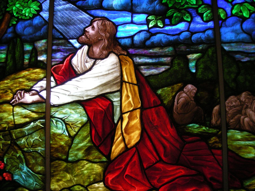 Christ praying in the Garden of Gethsemane