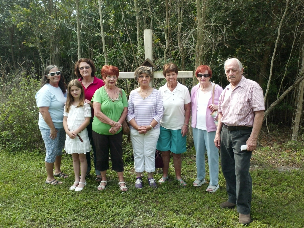 Pax Christi Southwest Florida members at their Lenten Stations of the Cross prayer service.