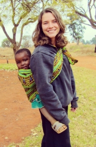 Katy Donchik with Abalee, one of her students in Pommern, Tanzania, in August 2013. (NCR photo)