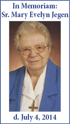 Remembering Sr. Mary Evelyn Jegen