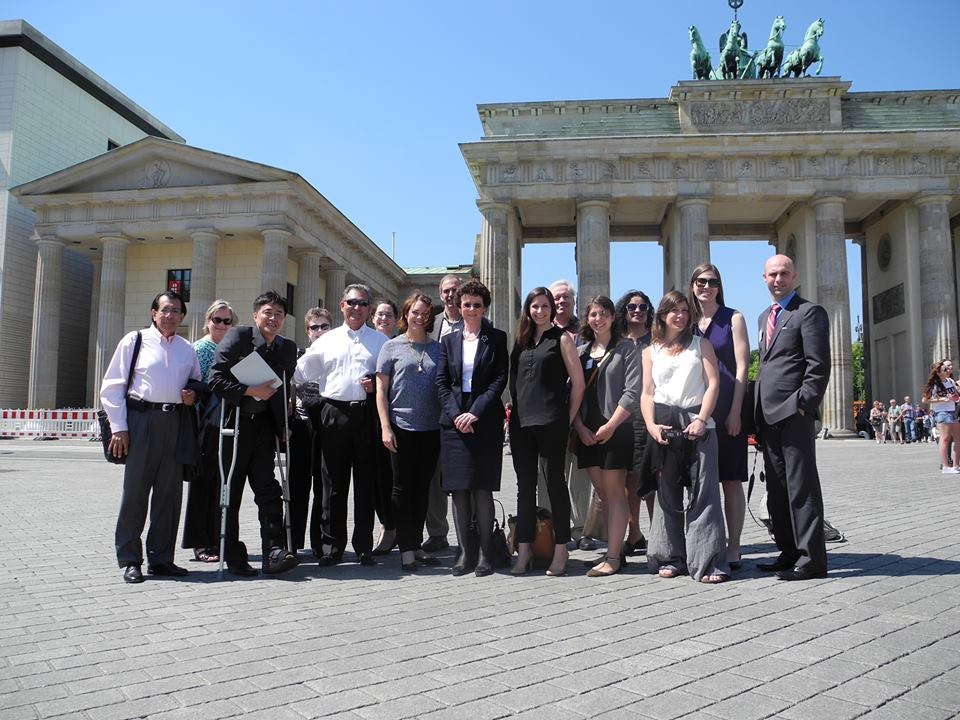 Pax Christi Indianapolis member Terri Morris Downs in Berlin (photo courtesy of Val Fillenwarth)