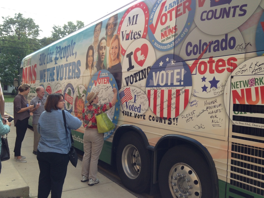 PC Michigan hosts a stop with Nuns on the Bus.