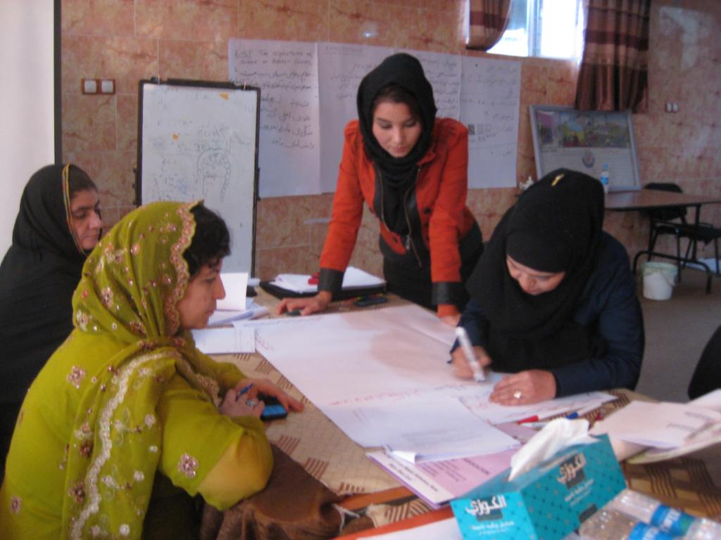 Training midwives in Kabul