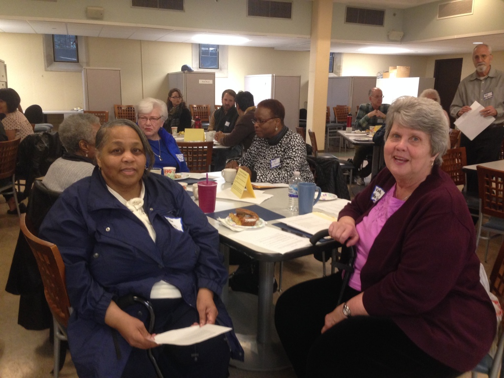 Wilma Locke and Kathy McGinnis were part of the local planning team for the anti-racism workshop and attended themselves as well.