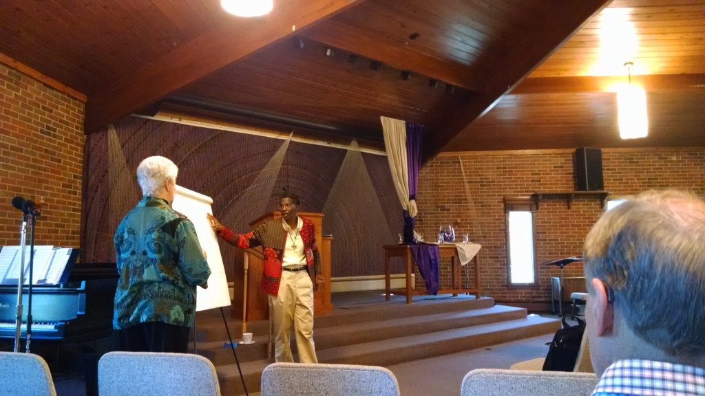 "West Suburban Faith-Based Peace Coalition of Illinois held their 12th Annual Gathering and Fourth Annual Rev. J. Robert Sandman Lecture Series. ""Taking on the Silence:  Daring to Explore the Sin of Racism"" was presented by Sr. Patricia Chappell, SNDdeN, Executive Director of Pax Christi USA and Sr. Anne-Louise Nadeau, SNDdeN, Director of Programs."
