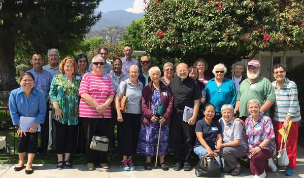 Fr. Chris Ponnet of Pax Christi Los Angeles led a retreat for Maryknollers and Pax Christi members on peacemaking, nonviolence and stories of ministry in early June.