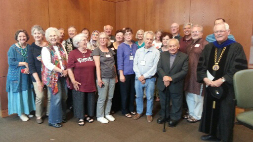 At 2015 Pax Christi Texas Conference in San Antonio, Fr. Gustavo Gutierrez joined the group for a photo.