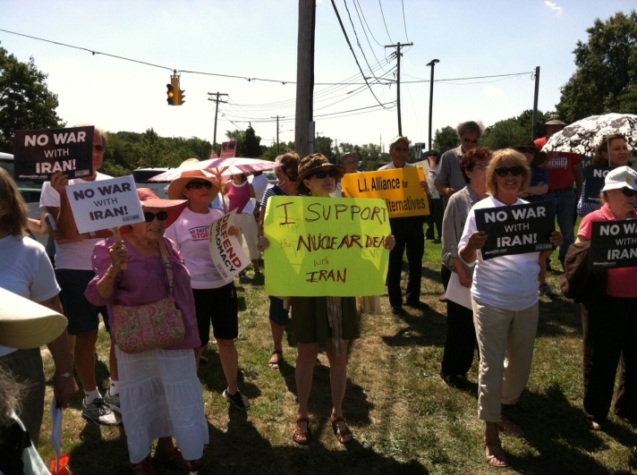 PC Long Island (NY) members rally outside Sen. Schumer's office.