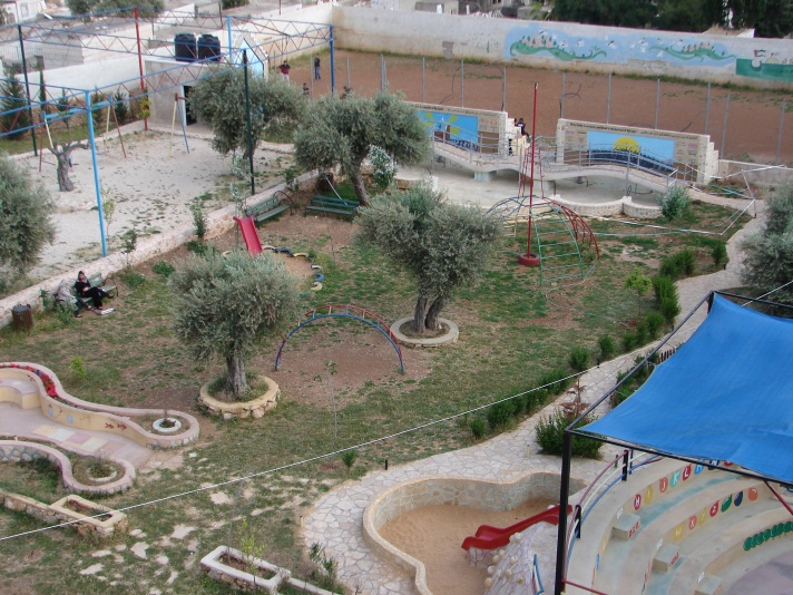The park at Laji Center in Aida Refugee Camp, home to Abdo, one of the Palestinian boys shot and killed by Israeli forces recently.