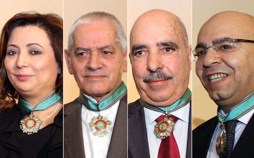 The members of the Tunisian National Dialogue Quartet awarded the Nobel Peace Prize in Oslo Photo: EPA/HO