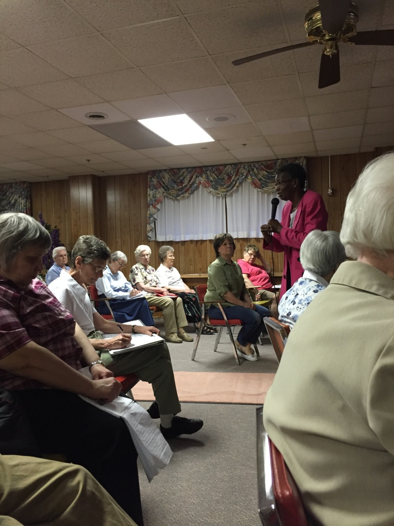 Sr. Patty Chappell and Sr. Anne-Louise Nadeau, SNDdeN did anti-racism workshops for members of the Adorers of the Blood of Christ in Wichita, KS; Roma, IL; and Columbia, PA this past weekend.
