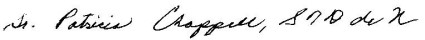 Sr. Patty signature