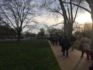 Silent march to the national mall